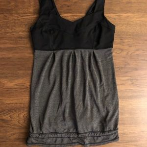 Lululemon grey and black tank size 6